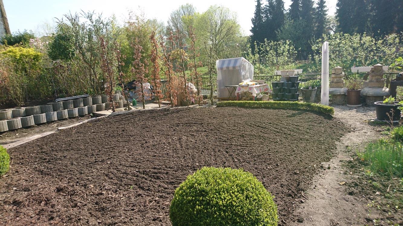wir schaffen Raum für unseren Notgarten