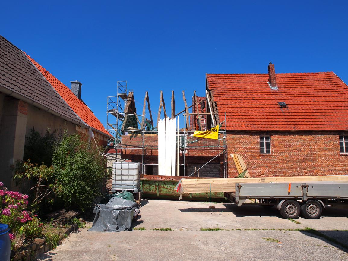 Dach ausgelattet