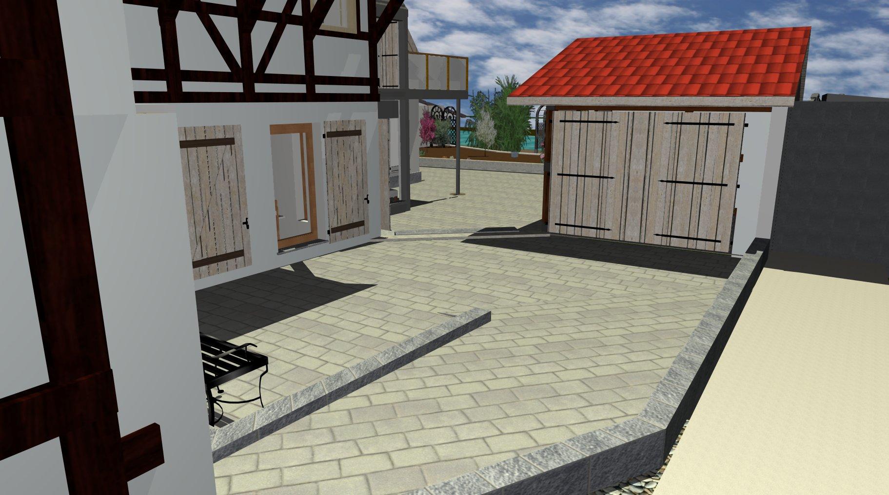Der Carport als Hommage an den alten Schweinestall nimmt etwa ein Viertel des ursprünglichen Gebäudes ein.